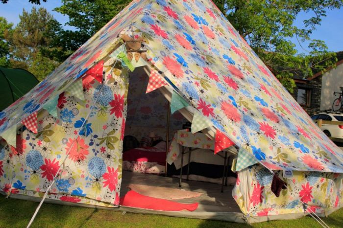 Flower Canvas Bell Tent