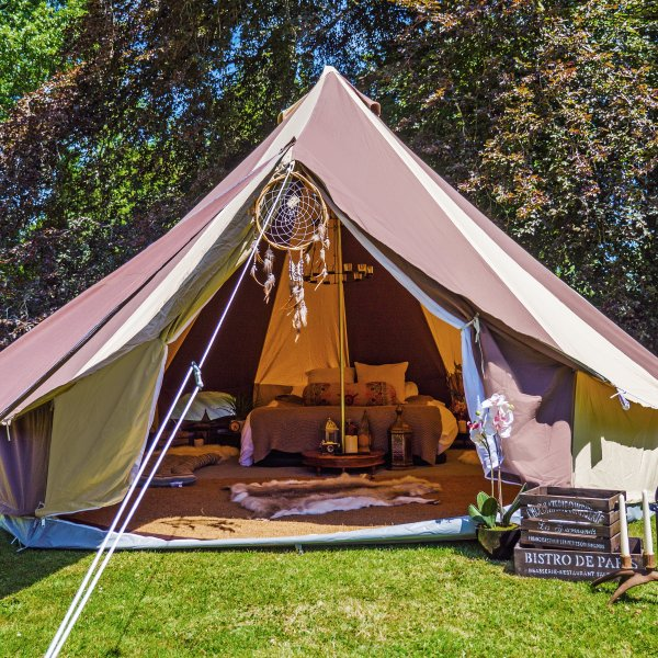 Cookies and Cream Tent With Zipped in Ground Sheet