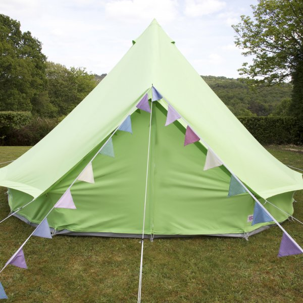 Apple Green Bell Tent With Zipped in Ground Sheet