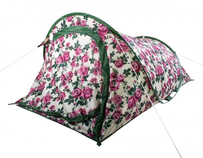 Highplains Vintage Floral Camping Pop Up 2 Man Tent