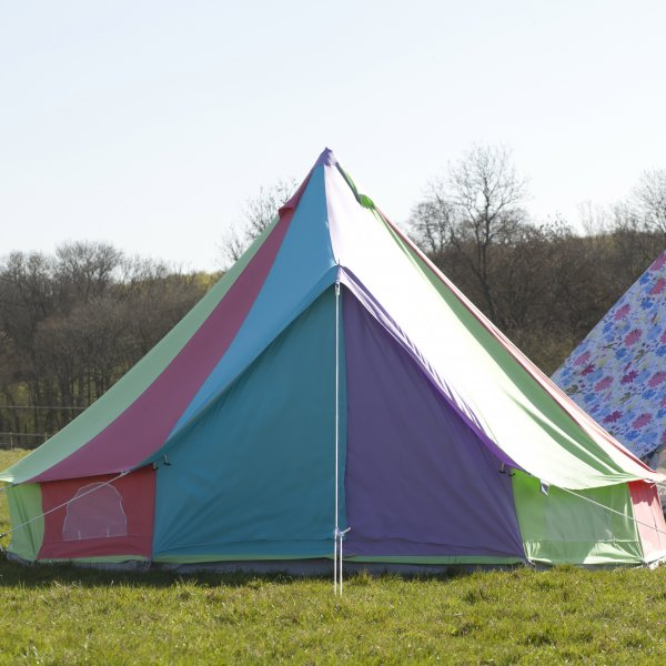 Rainbow Bell Tent With Zipped in Ground Sheet